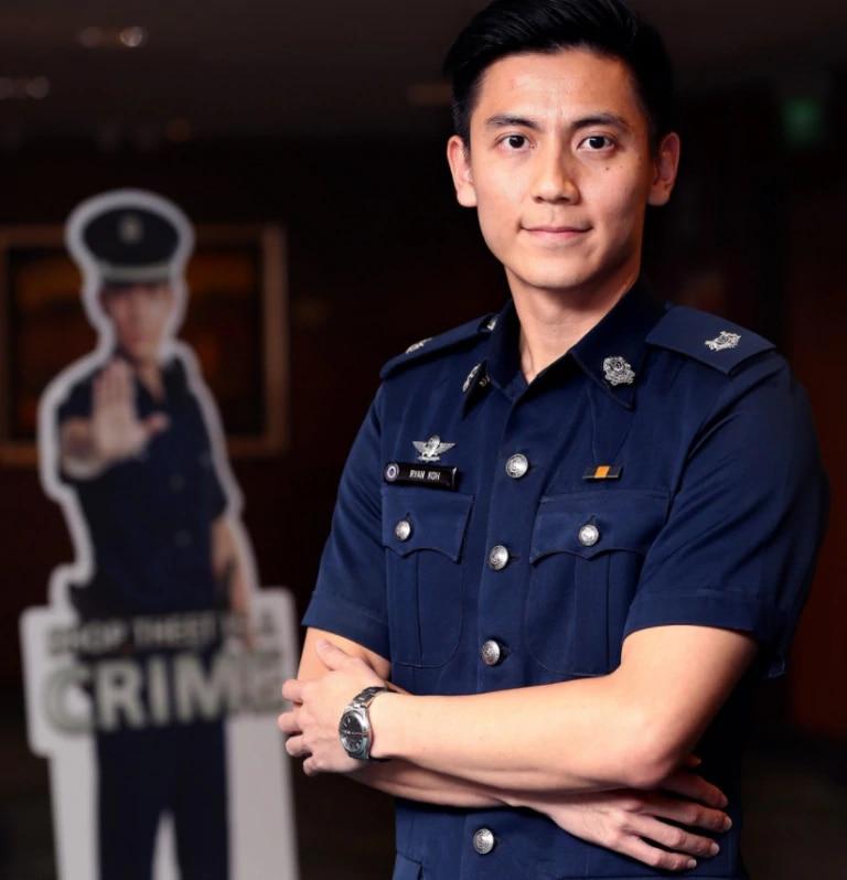 Handsome Singapore Cop