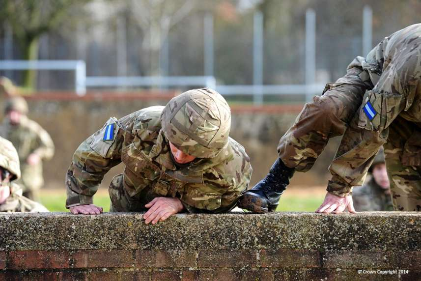 Soldiers on an Assault Course