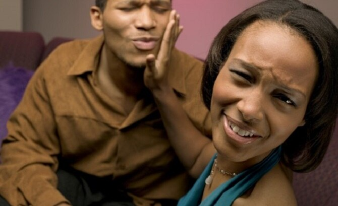 Man and Woman Making Dating Mistakes