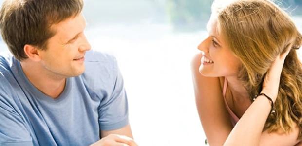 talking to a man