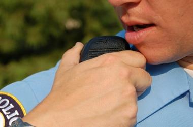 cop on radio