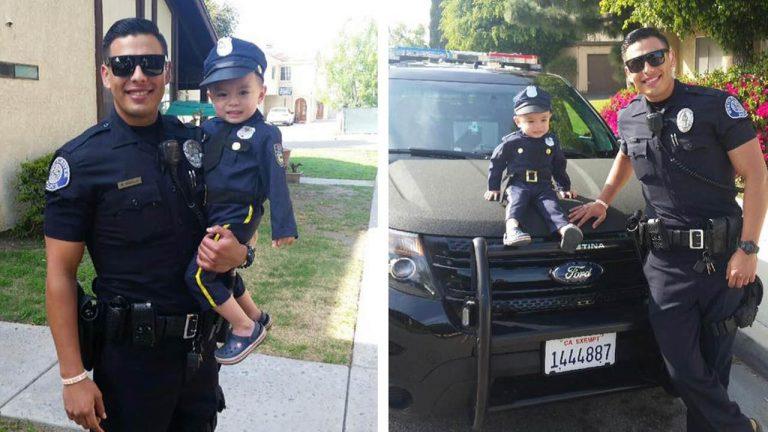 Hot officer Mike Gradilla